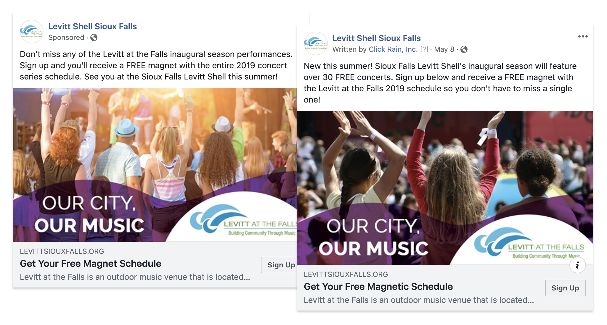Facebook ads used for targeted digital strategy