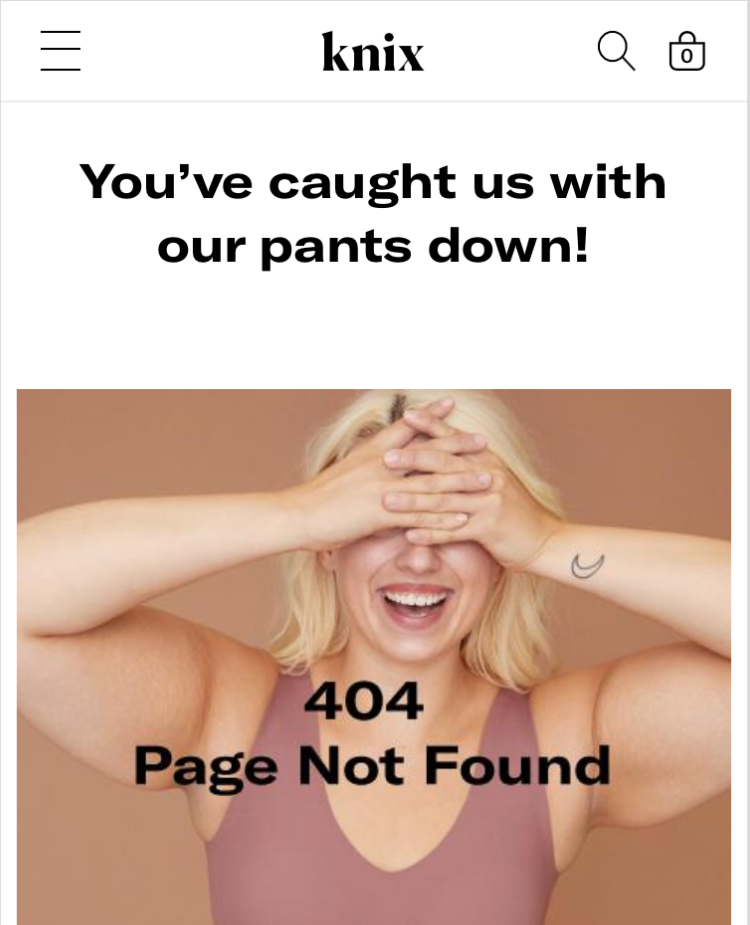 Knix 404 Page Example
